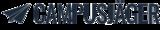 Fits in 160x50 logo papierflieger und text dunkelblau