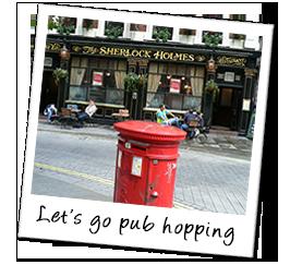 Polaroid england pub