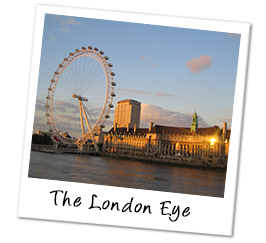 Polaroid england londoneye