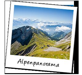 Polaroid schweiz alpen